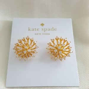 New kate spade Flying Colors Gold Tone Earrings